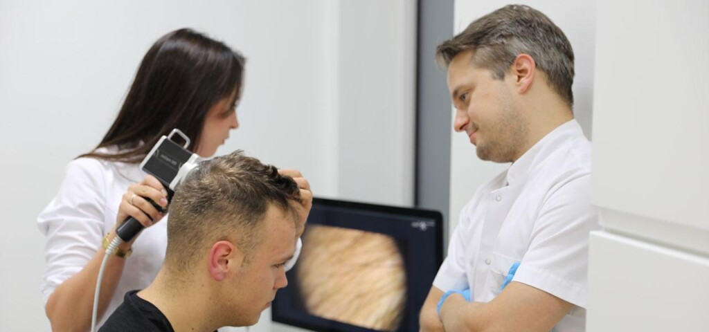 badanie trichoskopem