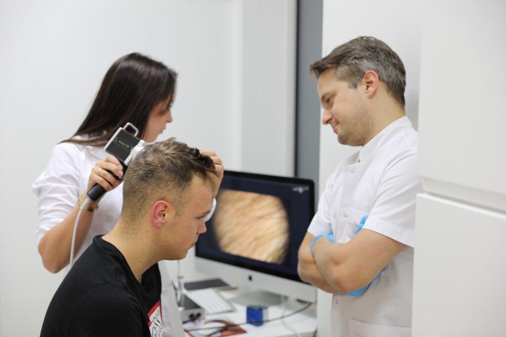 trichoskopia komputerowe badanie włosów